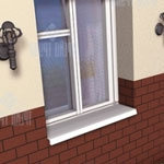 отлив металлический, отливы на окнах